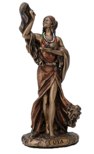 3.5 Inch Orisha Oya Statue Santeria Lucumi African Goddess of Wind Storm Yoruba