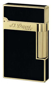 S.T. Dupont Ligne 2, Black Chinese Lacquer With Gold Accents, 16884, New In Box
