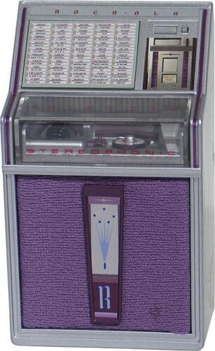 JUKEBOX MINIATURE REPLICA ROCK-OLA 1493 PRINCESS 1962 LIGHTS AND PLAYS