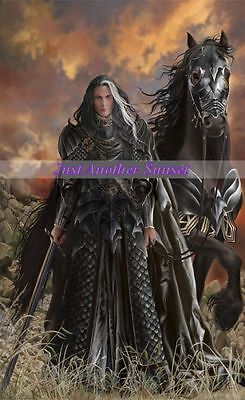 Nene Thomas Limited Edition Print Signed Madari Dhaerhan Black Horse Warrior New