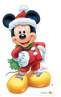 Mickey Maus für Santa Lifesize Papp Figur Aufsteller Standup Weihnachten ()