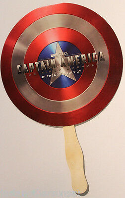 SDCC Promo Fan Captain America Avengers Movie Costume Cosplay Halloween Shield - Halloween Usa Promo