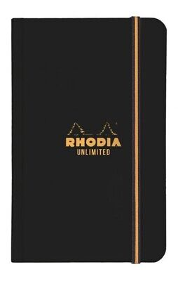Rhodia R118059 3 12 X 5 12 Unlimited Pocket Notebook Lined Paper Wblack