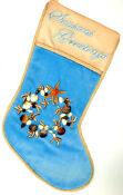 Blue Velvet Christmas Stocking