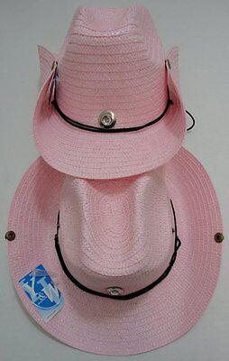 60 PINK Straw Cowboy Hats Cowgirl Womens Western Hat w/ Snaps BULK WHOLESALE LOT