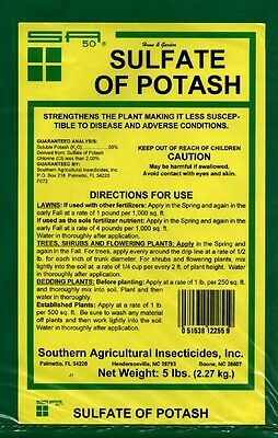 Sulfate Of Potash 0 0 50 Granular  5 Lbs