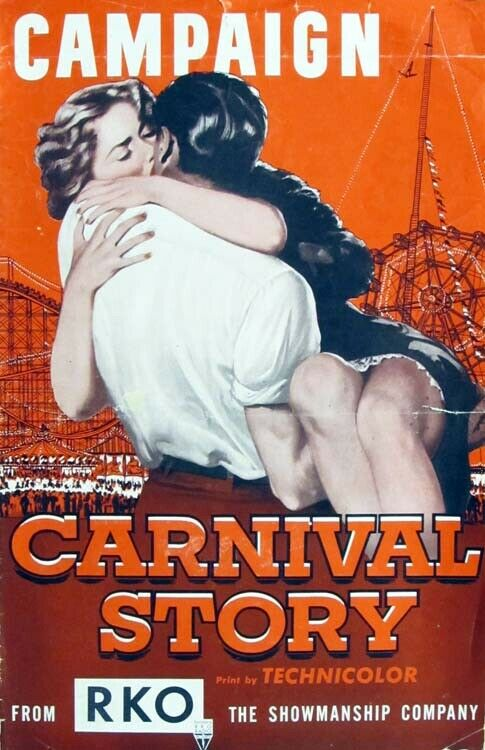 CARNIVAL STORY great PRESSBOOK 1954