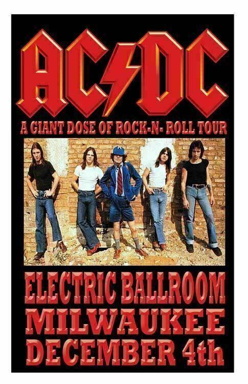 AC/DC REPLICA *ELECTRIC BALLROOM* 1977 CONCERT POSTER