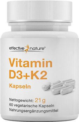 effective nature - Vitamin D3 + K2 Kapseln - 60 Stk.