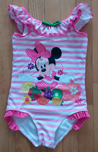 Minnie Mouse DISNEY store (girl 1-piece swimsuit-size 7/8)