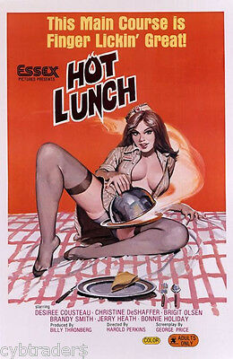 Hot Lunch  1960's Adult  Movie  Refrigerator / Tool Box Magnet  ](Adults Hot Movies)