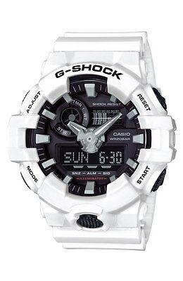NEW Casio G-SHOCK GA700-7A Super Illuminator 3D Ana-Digital Men's Watch   WHITE