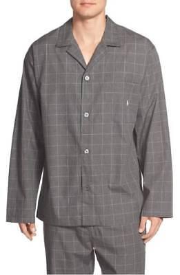 Polo Ralph Lauren Woven Pajama Top - Gray - Medium