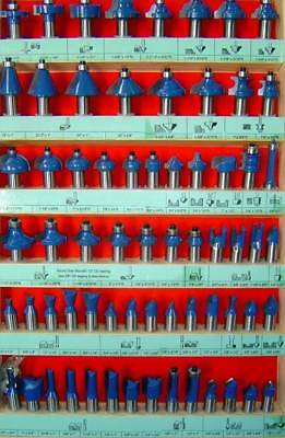 66pc 14 Shank Router Bit Set Carbide W Case V Straight Ogee Free Shipping New