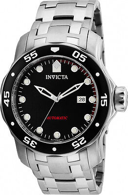 Invicta Men's Pro Diver Automatic Stainless Steel Black Dial Watch 23630