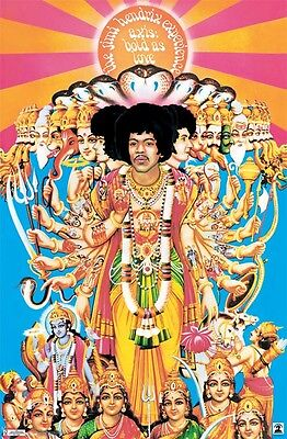 JIMI HENDRIX POSTER ~ AXIS BOLD AS LOVE 22x34 Experience Music Viraat Purushan on Rummage