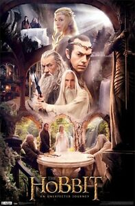 LORD-OF-THE-RINGS-THE-HOBBIT-CAST-RIVENDELL-POSTER-PRINT-NEW-22x34-FREE-SHIP