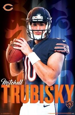 MITCHELL TRUBISKY Chicago Bears QB Official NFL Action WALL POSTER Chicago Bears Nfl Wall