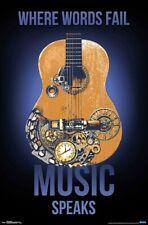 MUSIC SPEAKS - INSPIRATIONAL POSTER - 22x34 - GUITAR 18108