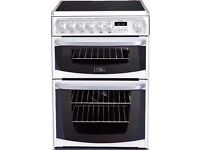Cannon by Hotpoint Kendal CH60EKWS Electric Cooker with Ceramic Hob - White Brand New