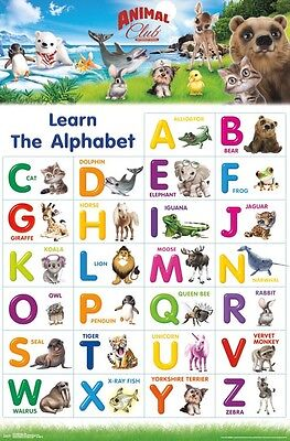 ANIMAL CLUB - ABC POSTER 22x34 - LEARNING ALPHABET 15170