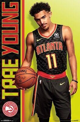 TRAE YOUNG - ATLANTA HAWKS POSTER - 22x34 - NBA BASKETBALL 17427