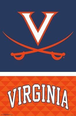 University of VIRGINIA CAVALIERS Official NCAA Team Logo Wall -