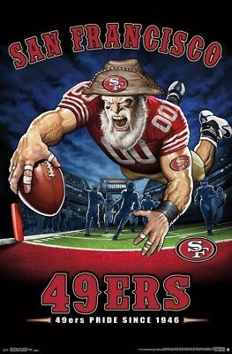 San Francisco 49ers 49ERS PRIDE SINCE 1946 End Zone TD Dive NFL Theme Art POSTER](49ers Theme)