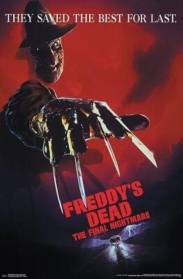 NIGHTMARE ON ELM STREET - FREDDY'S DEAD MOVIE POSTER - 22x34 16588