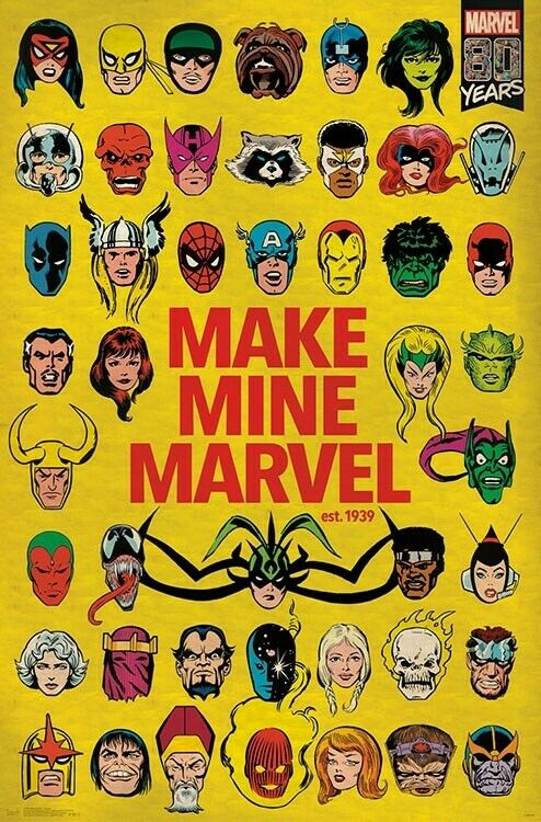 MARVEL COMICS HEROES COLLAGE POSTER 22x34-17024
