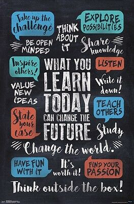 WHAT YOU LEARN - INSPIRATIONAL POSTER - 22x34 - QUOTES 15378 (Learning Posters)