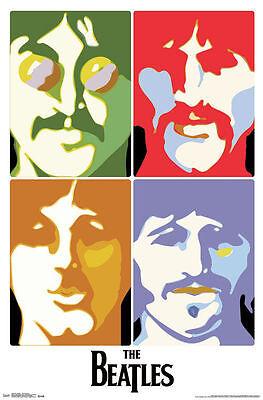 The Beatles Sea Of Science Poster New 22X34 Bonus Guitar Pick Free Shipping