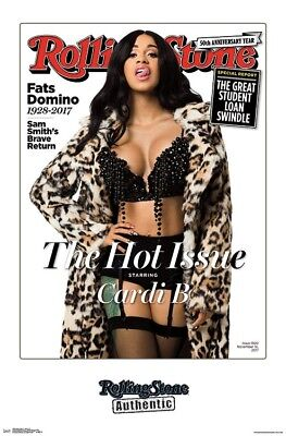 Cardi B   Rolling Stone Cover Poster   22X34   Music 16450