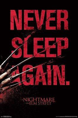 NIGHTMARE ON ELM STREET - NEVER SLEEP AGAIN POSTER - 22x34 - MOVIE 14925