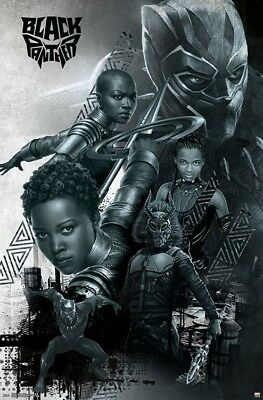 BLACK PANTHER MOVIE - CHARACTER COLLAGE POSTER - 22x34 - - Character Posters