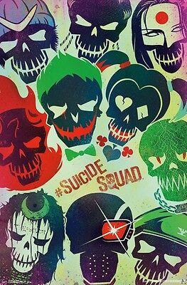 Suicide Squad DC Comics Skulls Original Movie Poster T241 A4 A3 A2 A1 A0|