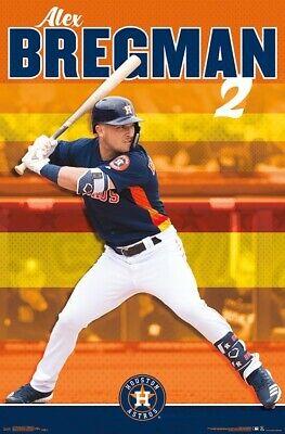 Alex Bregman SUPERSTAR New Houston Astros MLB Baseball Action Wall POSTER