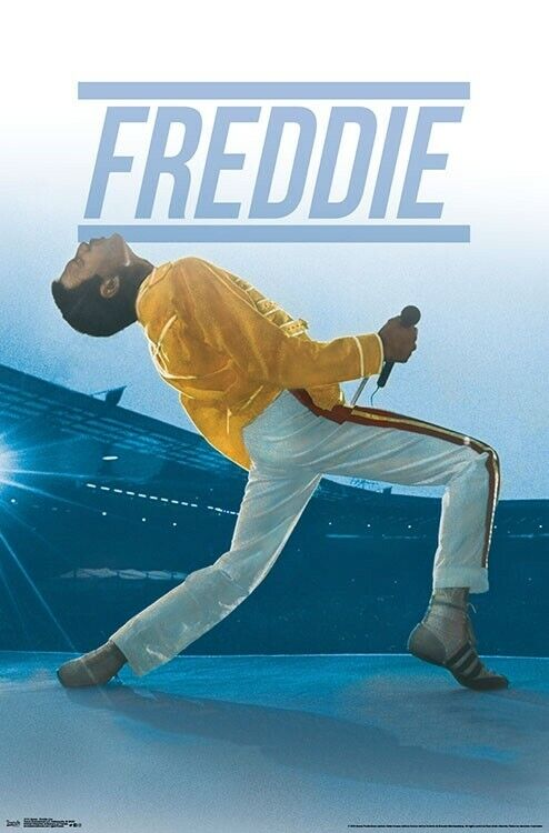 Freddie Mercury QUEEN AT WEMBLEY 1986 Rock Band Music Group Wall POSTER
