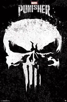 New Tv Show Poster - THE PUNISHER - SKULL LOGO - TV SHOW POSTER - 22x34 MARVEL COMICS 16242