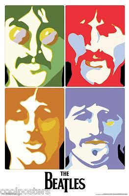 The Beatles Paul Mccartney John Lennon Sea Of Science Poster Free Guitar Pick