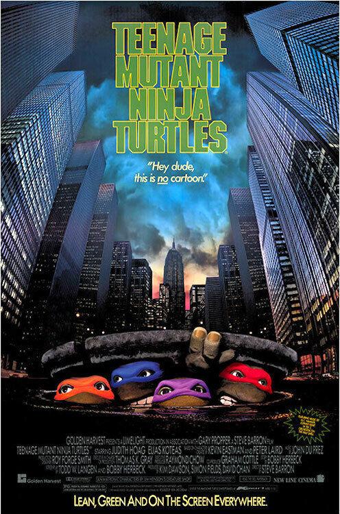 TEENAGE MUTANT NINJA TURTLES - CLASSIC MOVIE POSTER 24x36 -