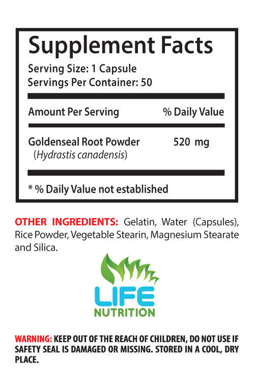 antioxidant all in one - GOLDENSEAL ROOT 520MG 2B - goldenseal standard process 1