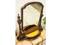 Amazing Antique Large Mahogany Dressing Table Mirror