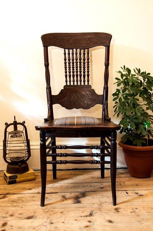 Antique Oak Fireside/ Reading Chair - Antique Oak Fireside/ Reading Chair In Polwarth, Edinburgh Gumtree