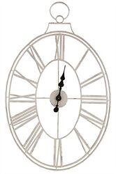 WHITE WIRE WALL CLOCK By SPLIT P/LARGE WALL CLOCK