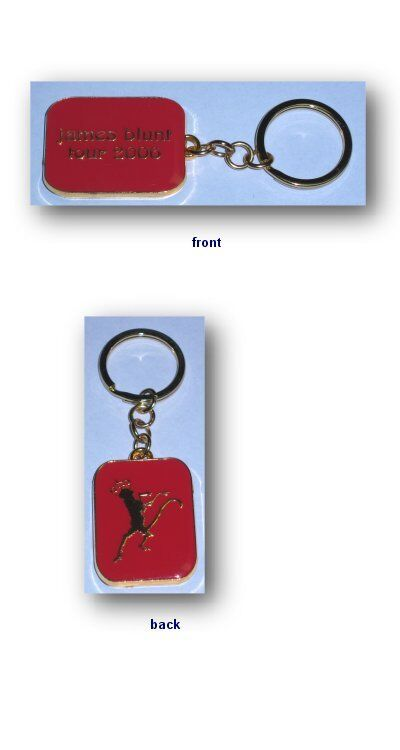 James Blunt- NEW 2006 Tour RED Metal Keychain LAST ONE! FREE SHIPPING TO U.S.!