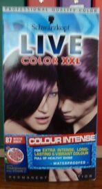 2 boxes Schwarzkopft mystic violet hair dye - new