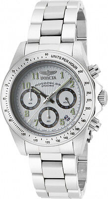 Invicta Men's Speedway Stainless Steel Chronograph White Dial Casual Watch 17023
