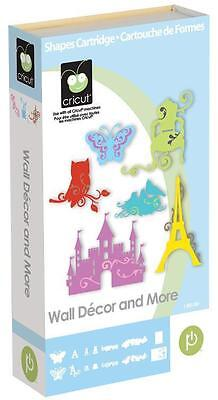 CRICUT *WALL DECOR AND MORE* CARTRIDGE *HOME ACCENTS MONGRAM FONT BORDER...* NEW ()