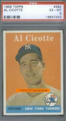 1958 Topps 382 Al Cicotte PSA 6 (7343)